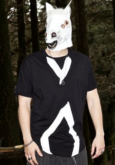 Rhombus Tee Long   Oversize   T-Shirt New MEL Factory Collection S S 2015  Our model wears a cool mask!