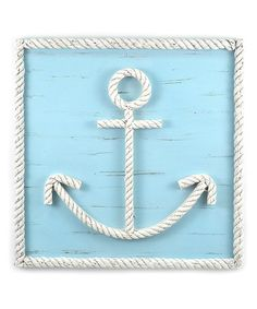 Loving this Blue Rope Anchor Wall Art on #zulily! #zulilyfinds