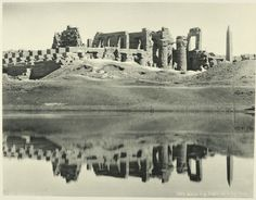 Karnak the Grand Temple and Sacred Lake. Old vintage photos of egypt 1870-1875 (26). New York Public Library