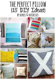 The Perfect Pillow {15 DIY Ideas} - Dukes and Duchesses