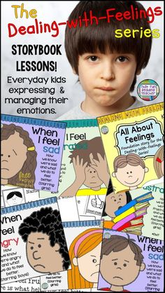 & for children's books for teaching kindergarten and primary students about feelings? These color and black + white storybook lessons feature relatable characters expressing and managing emotions by making good choices. Ideal for social skill learn Kindergarten Lesson Plans, Teaching Kindergarten, Teaching Ideas, Teaching Resources, Kindergarten Themes, Autism Resources, Preschool Ideas, Social Skills Activities, Enrichment Activities