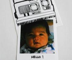 CreatIve Birth Announcement idea! #diy #crafts #baby