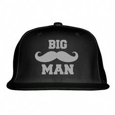 7e4a0c6000d Big Man Snapback Hat (Embroidered)