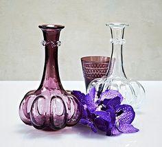 """Theresienthal Kürbisflasche, violett Außergewöhnliche, handgefertigte Karaffe"""" """"Kürbisflasche"""" - ein wundervolles Stück Geschichte aus dem Hause Theresienthal."""