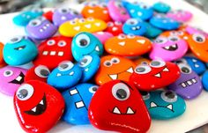 Monster Painted Rocks - Makoodle. Thinking Monster Inc: Mike and Sully
