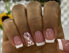 French Manicure Nail Designs, Girl Backpacks, Cute Nails, Hair Beauty, Lily, Nail Art, Finger Nails, Block Prints, Templates