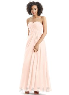 04070e7211c Azazie Arabella Formal Dress Pearl Pink Size 0 Maxi Dress Gown Bride s maid  1036 Coral Bridesmaid