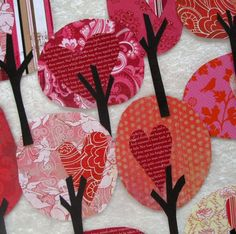 Paper Trees Valentine's Day Friendly Forest by psitsinthedetails. $12.50, via Etsy.