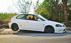 White ek hatchback 1999 Honda Civic, Honda Civic Coupe, Honda Civic Hatchback, Honda Crx, Honda Civic Type R, Ek Hatch, Jeep Patriot, Japanese Cars, Jdm Cars