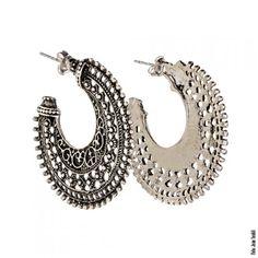 Argola grande em prata turca envelhecida