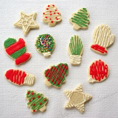 Decorated Christmas Cookies Examples