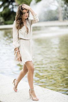 dress: Wolflamb (s/s 16) // sandals: Steve Madden (s/s 16) // bag: Chanel