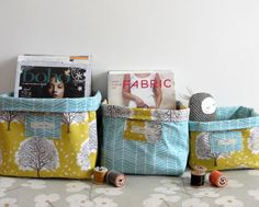Fabric boxes look great and can be used to hold a multitude of things. I originally wrote this tutorial for Making Gifts magazine  bu...
