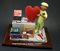 Heart Surgeon's Custom Made Figurine  www.magicmud.com    1 800 231 9814    magicmud@magicmud.com $225  Personalized #Medical Gift Figurines, custom created just for you!    Perfect present for all #Doctors, a  heartfelt gift for birthdays, graduations, anniversaries, new office openings, retirement, as a thank you to a great #physician  Surgeon, cardiologist, therapist, nurse, ob-gyno, podiatrist, psychiatrist, nephrologist, urologist, radiologist, any occupation made to to order by…
