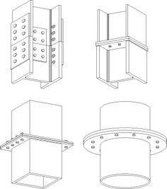 Risultati immagini per shs corner post steel frame