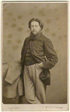 Ford Madox Brown  by W. & D. Downey  albumen carte-de-visite, circa 1864