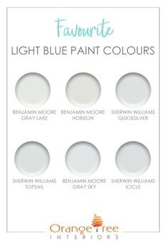 I love blue as much as the next guy, but I have to admit that I'm not a huge fan of light blue paint colours. I find a lot of them a bit juvenile - maybe it's just me? Here are my favourite light blue Light Blue Paint Colors, Blue Wall Colors, Light Blue Paints, Light Blue Walls, Paint Colors For Home, House Colors, Paint Colours, Light Grey Paint, Light Painting