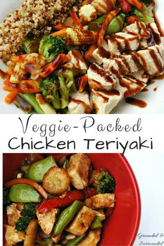 A simple and healthy take on chicken teriyaki that can be made in a snap! That's right! Move over take-out, we got you beat! This will quickly become a family favorite and go-to meal on those busy weeknights. The sweetness, spiciness, and savory flavors of this whole foods recipe hit every single taste bud! It's gluten-free as well! http://www.groundedandsurrounded.com/recipe/veggie-packed-chicken-teriyaki/