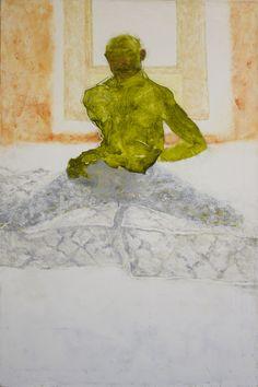 "Jennifer Packer, Acrobat  oil on canvas  2012  24"" x 36"""
