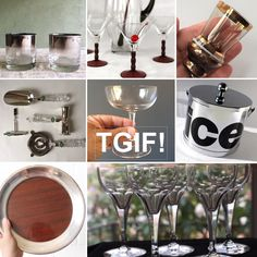 #Cheers from the shops of #vintageandmain! Shop our curated vintage barware collection at: http://etsy.me/2mOaraK