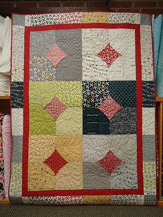 10 minute blocks  Reunion line from Sweetwater for Moda itssewshannon Cute and quick - try with turquoise and  dark brown