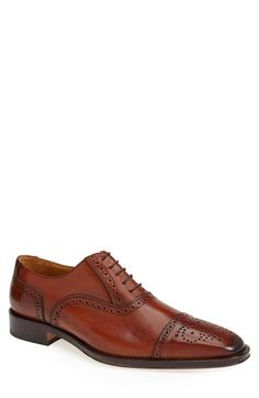 John W. Nordstrom® 'Sterza' Cap Toe Oxford (Men) available at #Nordstrom