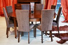 Circular Dining Table - French oak