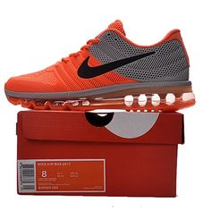Nike Air Max 2017 Men Orange Grey Running Shoes