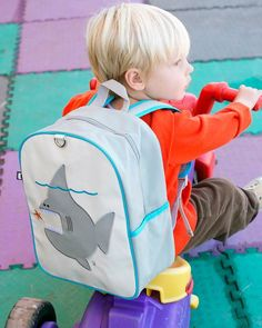 accd001d0368 Nigel the Shark Little Kid Backpack  Official Beatrix New York Site