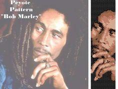 Peyote pattern  for bracelet cuff  Bob Marley di LePCCdiMeri, €2.10