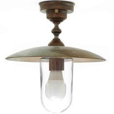 Tuscanor - Brass Porch Flush Light - TUS1343