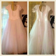 """Jasmine Bridal princess Wedding Dress Gorgeous Jasmine Bridal Ball Gown Cap Sleeve wedding dress. White. Dress is 10 years old but was professionally preserved and kept in case a week ago.Size 16. Come with long train that attaches to the back of dress. Inner designer tag was cut out. Has size tags. Approximately measures laying flat across: bust 17"""", waist 16"""", shoulder to hem 60"""". Train attaches to waist and is approximately 6.5 feet long. Excellent condition. Jasmine Bridal  Dresses"""