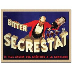 Trademark Fine Art Robert Wolfe 'Bitter Secrestat' Gallery-wrapped Canvas Poster