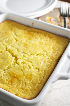 Corn Casserole is simple to make and a favorite around the dinner table!