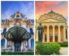 Cele mai fascinante clădiri pe care le găsești în București Bucharest, Mai, Romania, Taj Mahal, Mansions, House Styles, Building, Travel, Home Decor