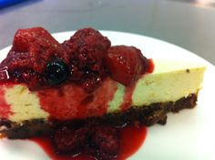 steamed cheesecake and steamed berries