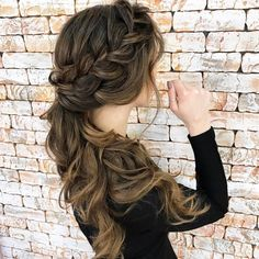 Braided Hairstyle with updo