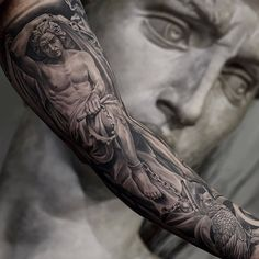 Artist: @juncha from LA.  Follow for more or visit inklocations.com (link in bio). #getinked #inklocations #tattoo #ink #inked #tattoos #art #tattooed #color #colorful #black #grey #blackandgrey #tattoist #design #instaart #sleevetattoo #tatted #instatattoo #bodyart #amazingink #tattedup #tattooartworldwide #support_artists