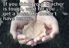 If you think your teacher
