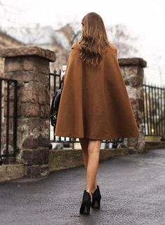 This camel cape caught my eye (have a thing for camel coats at the moment:) & the simple styling appeals...