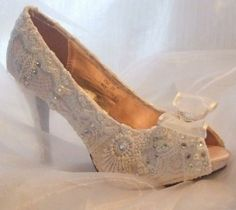 Vintage. Wedding shoe inspiration.  For all your headwear requirements visit www.eledahats.co.uk