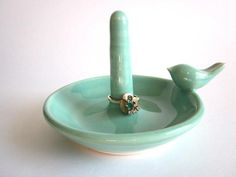 Ring Holder/Ring Dish/Mint Green Ceramic Pottery #home #decor #interiordesign