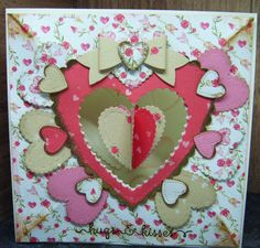 This gorgeous card has been created using our C116 Love Story collection. Watch the YouTube video now.