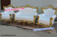 #Gold #Royal #Luxury #Wedding #Carved #Sofa #Sets #Dstexports