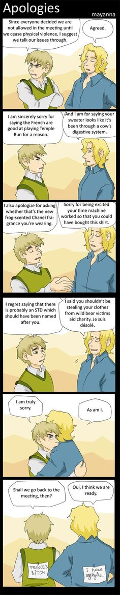 """Hetalia: Apologies by mayanna.deviantart.com on @deviantART  Hahaha, """"I have Syphilis."""" XD  I liked England's insults the most.  They were quite amusing. lol"""