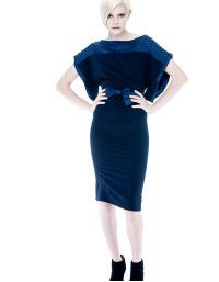 Dress - Contrasting - Night blue