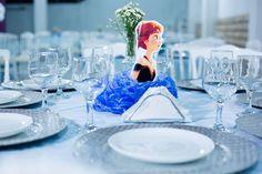 Centro de mesa dos convidados Festa Frozem Decor Sueli Coelho