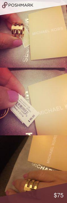Michael Kors Gold ring NWT Very elegant gold ring by Michael Kors NWT Michael Kors Jewelry Rings #GoldJewelleryMichaelKors