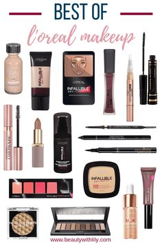 The Best L'Oreal Makeup - Beauty With Lily - - The Best L'Oreal Makeup – Beauty With Lily Affordable Makeup Must Haves Best L'Oreal Makeup // Best Affordable Makeup Products // Best Drugstore Makeup Make Up Loreal, Makeup Guide, Makeup Tricks, Makeup Tools, Cute Makeup, Beauty Makeup, Beauty Dupes, Perfect Makeup, Beauty Care
