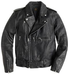 $995, Italian Leather Studded Motorcycle Jacket by J.Crew. Sold by J.Crew. Click for more info: http://lookastic.com//shop_items/194760/redirect